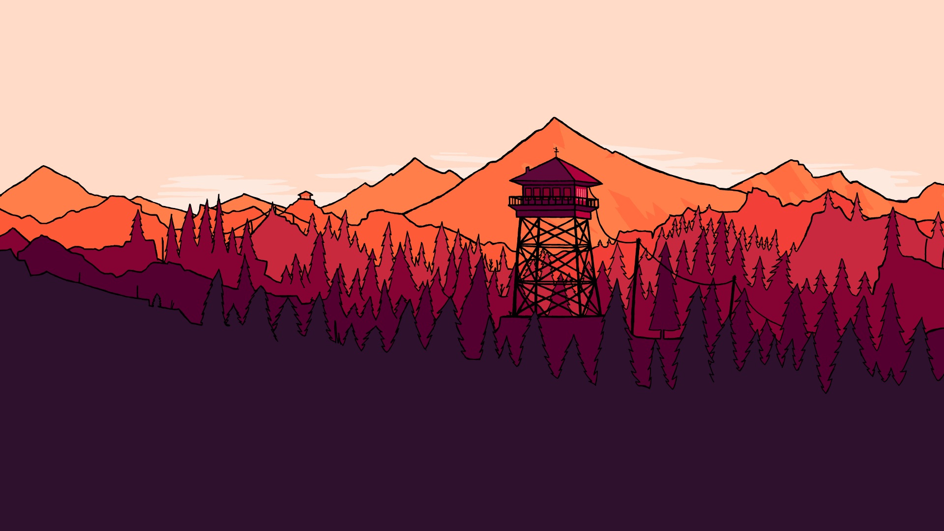 Coloured Firewatch Fanart